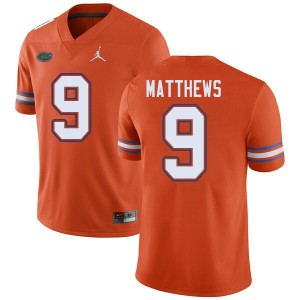 Jordan Brand Men #9 Luke Matthews Florida Gators College Football Jerseys Orange 468032-301