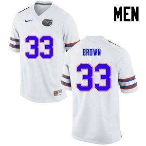 Men Florida Gators #33 Mack Brown College Football White 878921-850