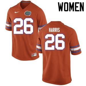 Women Florida Gators #26 Marcell Harris College Football Jerseys Orange 989827-366