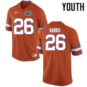 Youth Florida Gators #26 Marcell Harris College Football Jerseys Orange 328190-408