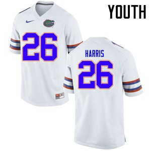 Youth Florida Gators #26 Marcell Harris College Football Jerseys White 136243-996
