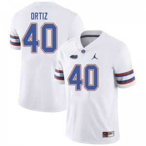 Jordan Brand Men #40 Marco Ortiz Florida Gators College Football Jerseys White 961345-214