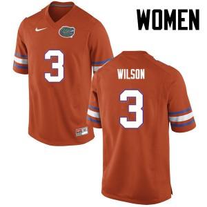 Women Florida Gators #3 Marco Wilson College Football Orange 621953-582