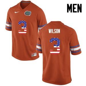 Men Florida Gators #3 Marco Wilson College Football USA Flag Fashion Orange 169051-561