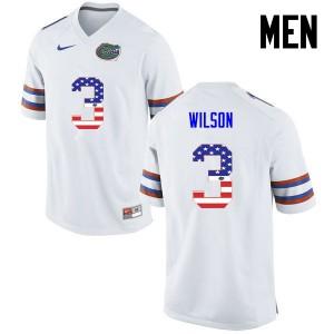 Men Florida Gators #3 Marco Wilson College Football USA Flag Fashion White 426424-229