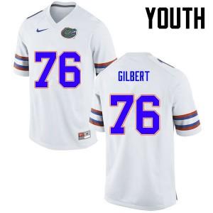 Youth Florida Gators #76 Marcus Gilbert College Football White 995522-226