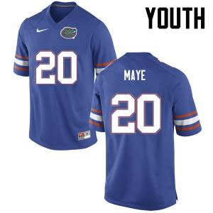 Youth Florida Gators #20 Marcus Maye College Football Blue 398483-668
