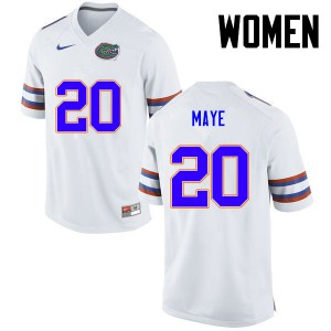 Women Florida Gators #20 Marcus Maye College Football White 602197-873