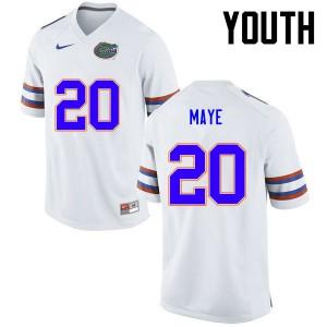 Youth Florida Gators #20 Marcus Maye College Football White 671616-484