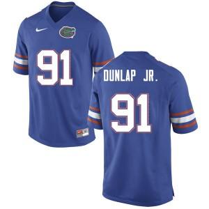 Men #91 Marlon Dunlap Jr. Florida Gators College Football Jerseys Blue 784933-988