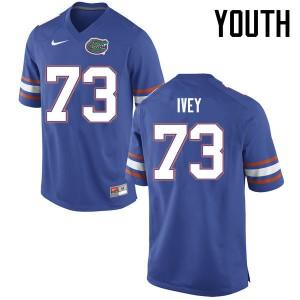 Youth Florida Gators #73 Martez Ivey College Football Jerseys Blue 124219-991