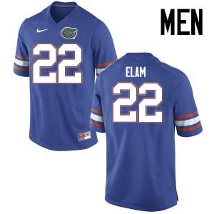 Men Florida Gators #22 Matt Elam College Football Jerseys Blue 746840-884