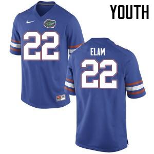 Youth Florida Gators #22 Matt Elam College Football Jerseys Blue 356720-922