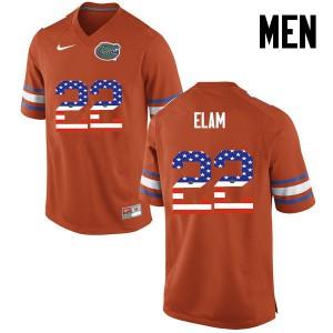 Men Florida Gators #22 Matt Elam College Football USA Flag Fashion Orange 245720-140