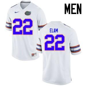 Men Florida Gators #22 Matt Elam College Football Jerseys White 835147-955