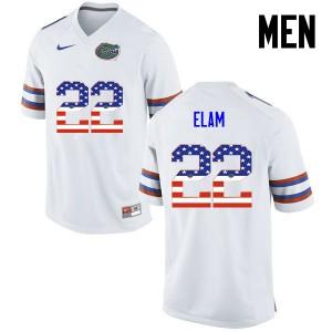 Men Florida Gators #22 Matt Elam College Football USA Flag Fashion White 376775-485