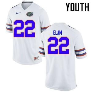 Youth Florida Gators #22 Matt Elam College Football Jerseys White 521572-732
