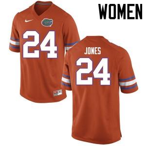 Women Florida Gators #24 Matt Jones College Football Jerseys Orange 993932-721