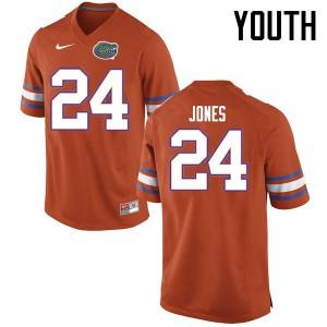 Youth Florida Gators #24 Matt Jones College Football Jerseys Orange 664397-670