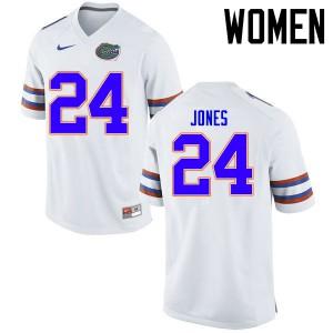 Women Florida Gators #24 Matt Jones College Football Jerseys White 827220-180