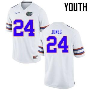 Youth Florida Gators #24 Matt Jones College Football Jerseys White 970997-933