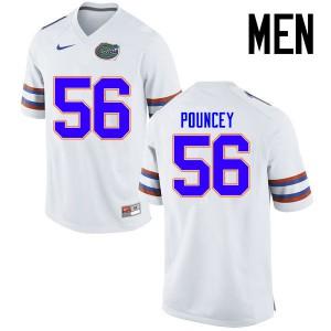Men Florida Gators #56 Maurkice Pouncey College Football Jerseys White 222759-999