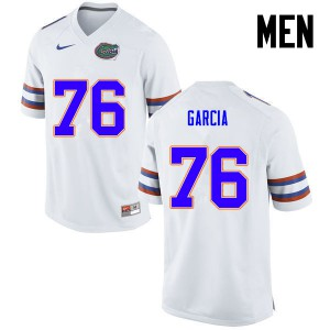Men Florida Gators #76 Max Garcia College Football White 118084-477