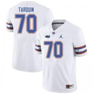 Jordan Brand Men #70 Michael Tarquin Florida Gators College Football Jerseys White 814527-507
