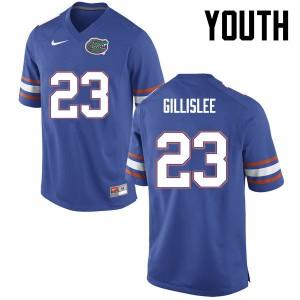 Youth Florida Gators #23 Mike Gillislee College Football Blue 357586-732