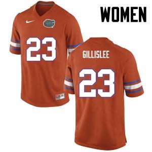 Women Florida Gators #23 Mike Gillislee College Football Orange 349317-276