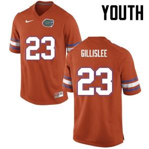 Youth Florida Gators #23 Mike Gillislee College Football Orange 331201-849