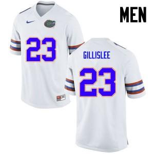 Men Florida Gators #23 Mike Gillislee College Football White 154592-771