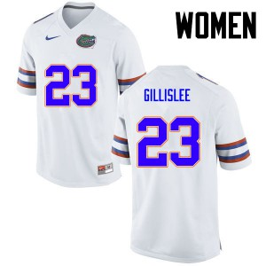 Women Florida Gators #23 Mike Gillislee College Football White 613904-804