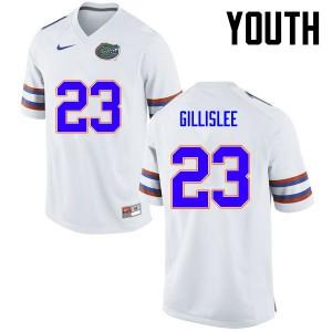 Youth Florida Gators #23 Mike Gillislee College Football White 618730-854