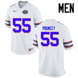 Men Florida Gators #55 Mike Pouncey College Football Jerseys White 883494-211