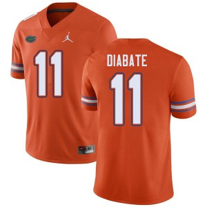 Jordan Brand Men #11 Mohamoud Diabate Florida Gators College Football Jerseys Orange 925903-326