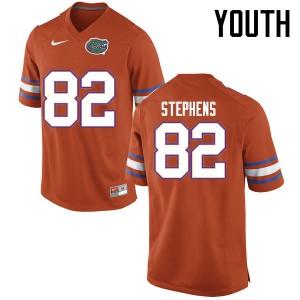Youth Florida Gators #82 Moral Stephens College Football Jerseys Orange 787918-451
