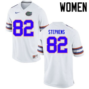 Women Florida Gators #82 Moral Stephens College Football Jerseys White 675188-239