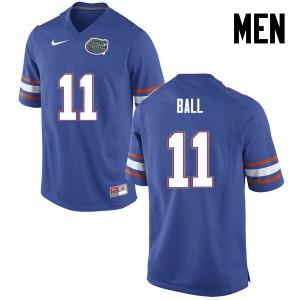 Men Florida Gators #11 Neiron Ball College Football Blue 427367-260
