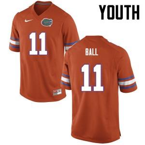 Youth Florida Gators #11 Neiron Ball College Football Orange 576330-887