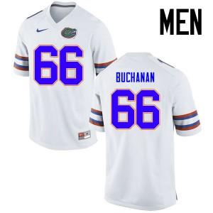 Men Florida Gators #66 Nick Buchanan College Football Jerseys White 619108-845