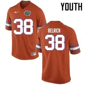 Youth Florida Gators #38 Nick Oelrich College Football Jerseys Orange 618700-186