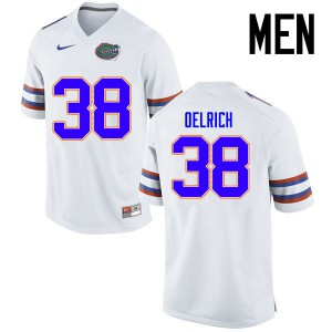 Men Florida Gators #38 Nick Oelrich College Football Jerseys White 408356-211