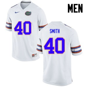 Men Florida Gators #40 Nick Smith College Football White 357545-900