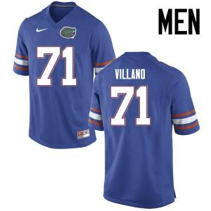 Men Florida Gators #71 Nick Villano College Football Jerseys Blue 255735-639
