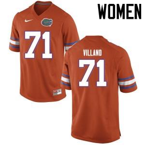 Women Florida Gators #71 Nick Villano College Football Jerseys Orange 979524-684