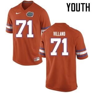 Youth Florida Gators #71 Nick Villano College Football Jerseys Orange 291908-245