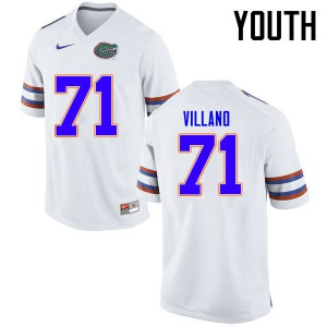 Youth Florida Gators #71 Nick Villano College Football Jerseys White 319381-910