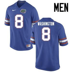 Men Florida Gators #8 Nick Washington College Football Jerseys Blue 704542-784