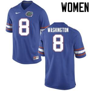 Women Florida Gators #8 Nick Washington College Football Jerseys Blue 692887-834
